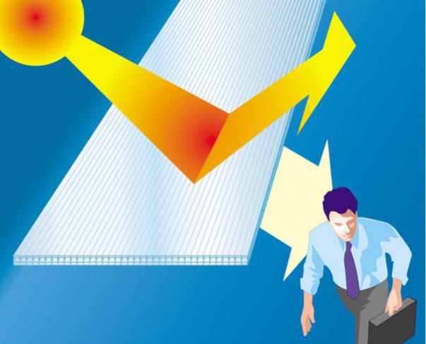 How polycarbonate sheet blocks UV radiation