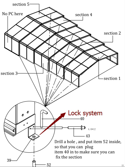 Lock systems of swimming pool enclosure