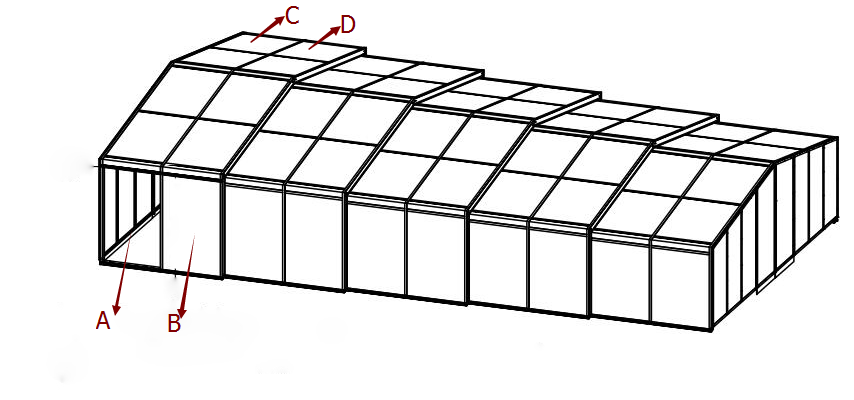 Side sliding door of Model G pool enclosure