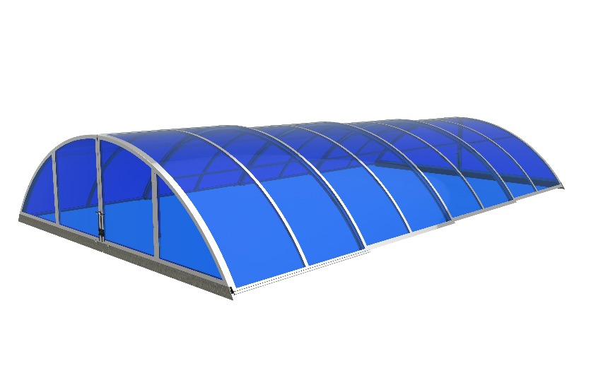 polycarbonate enclosure for swimming pool