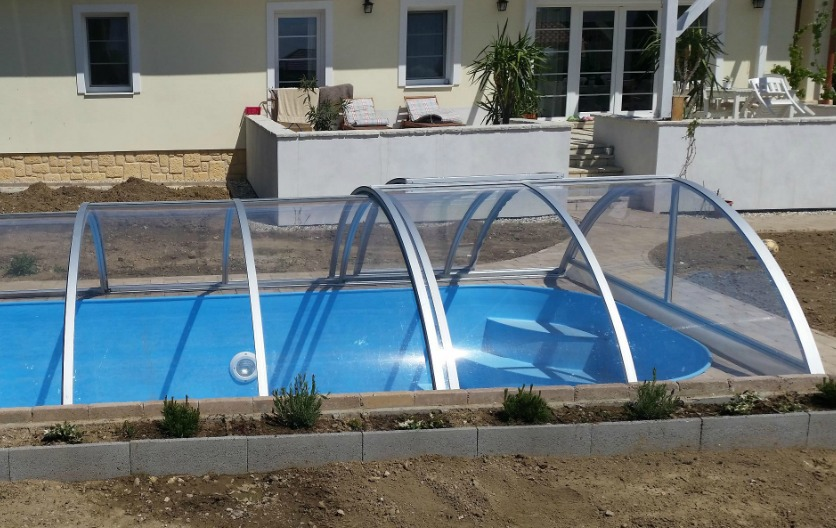 Retractable Swimming Pool Enclosure Pool Cover Polycarbonate 3mm Clear Pc Ebay