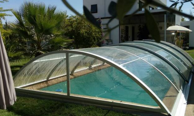 A Dome Shape Swimming Pool Enclosure