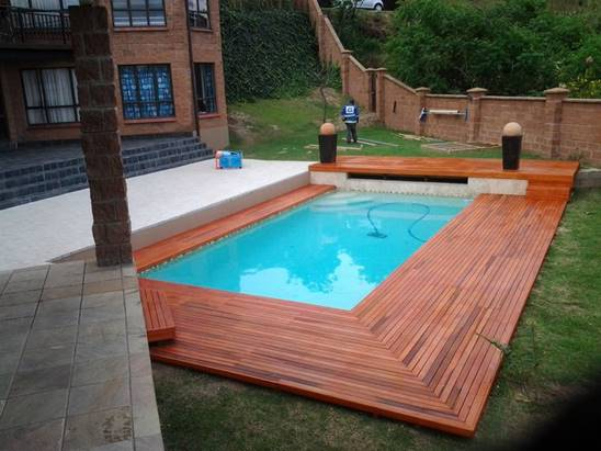 Perfect Wooden Pool Deck