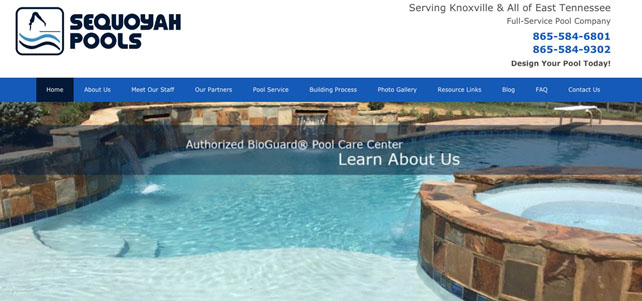Top 100 swimming pool companies in america excelite pool for Knoxville public swimming pools