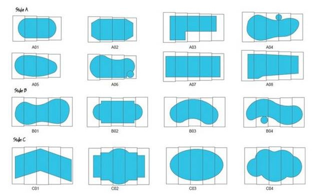 Figure 18 Different shapes of swimming pool - Excelite Pool