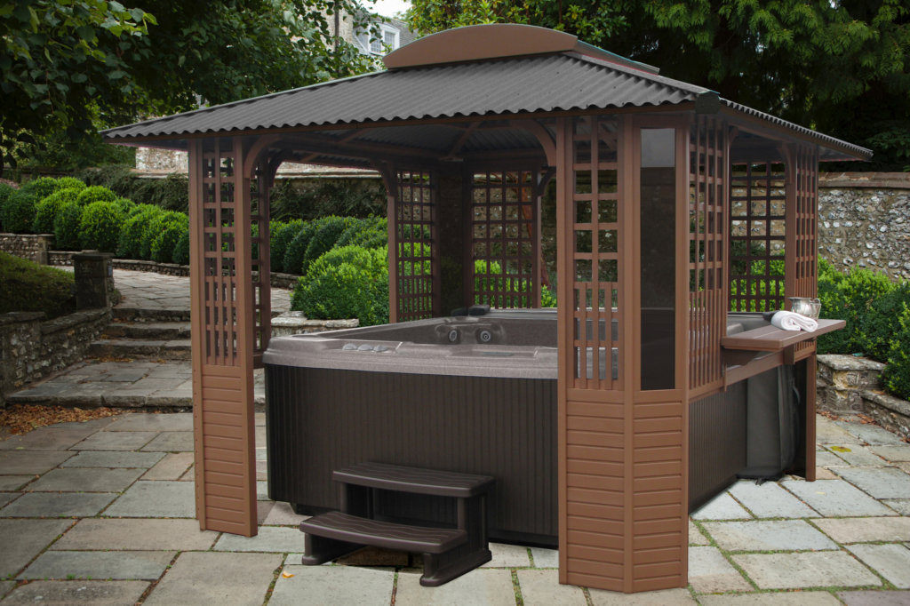 Freestanding Hot Tub Enclosure